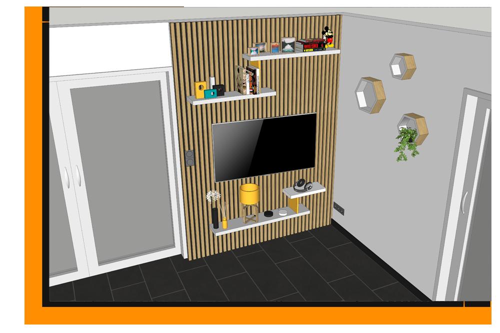 1053 3d - Plan 3D aménagement