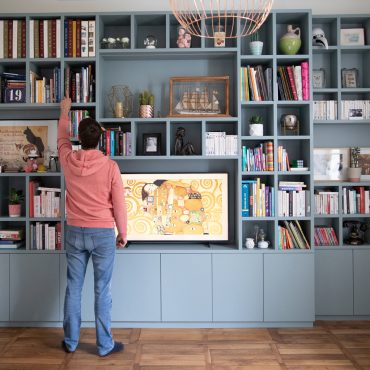 160 370x370 - Bibliothèque contemporaine et Meuble TV