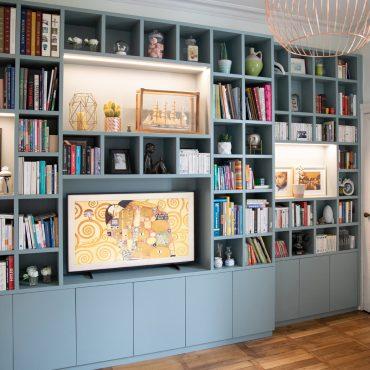 163 370x370 - Bibliothèque contemporaine et Meuble TV