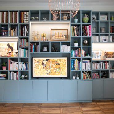 164 1 370x370 - Bibliothèque contemporaine et Meuble TV