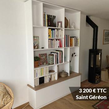 3200 saint gereon - Aménagement bibliothèque sur mesure