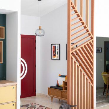 61 370x370 - Claustra en Chêne et meuble entrée avec niches