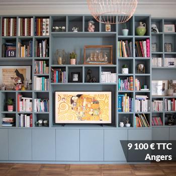 Angers 9100 - Aménagement bibliothèque sur mesure