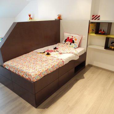 Chambre double pour enfants 370x370 - Lit enfant & espace bureau