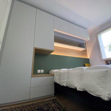 IMG 1407 370x370 - Tête de lit laqué éclairage LED & rangement penderie