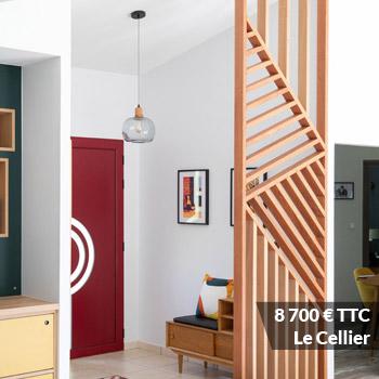 LE CELLIER 8700 - Claustra mural chêne huilé