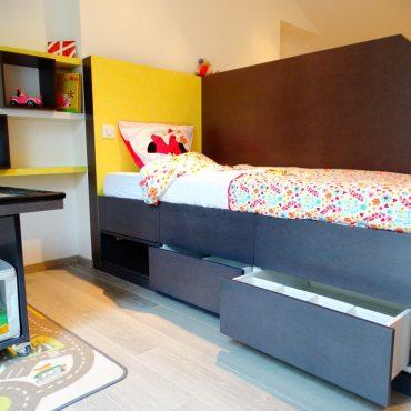 Lit sureleve avec rangements 370x370 - Lit enfant & espace bureau