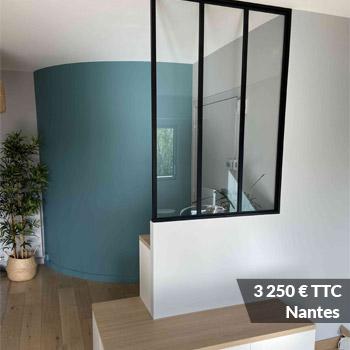 NANTES 3250 - Porte verrière laqué noir