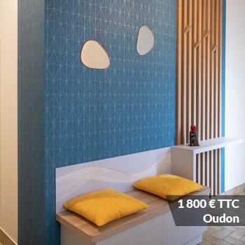 OUDON 1800 - Claustra chêne design et déstructuré