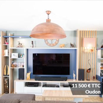 Oudon 11500 - Meuble toute hauteur laqué