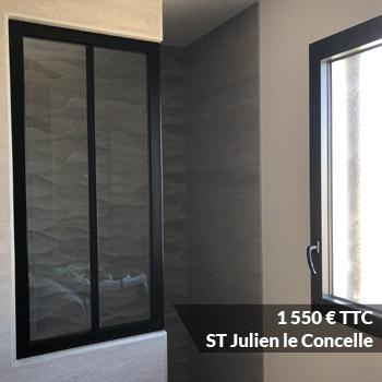 le concelle 1550 - Porte verrière laqué noir