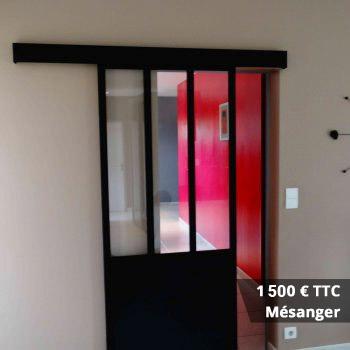 mesanger 1500 e - Verrière de douche sur muret