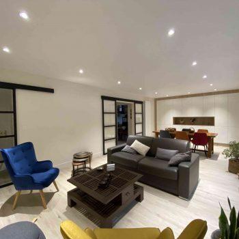 3 Meuble salle de réception sur mesure blanc brillant bois (2)