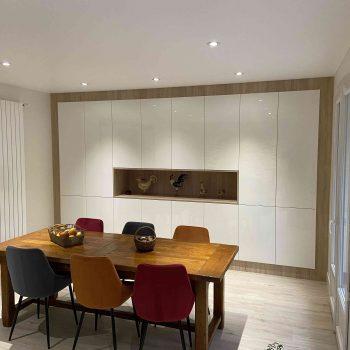 3 Meuble salle de réception sur mesure blanc brillant bois (3)